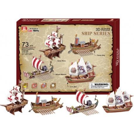 Kit de construction 4 bateaux