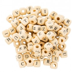 Alphabet Cubes en bois naturel