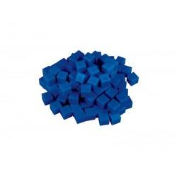 Matériel numération base 10 : 100 unités bleues