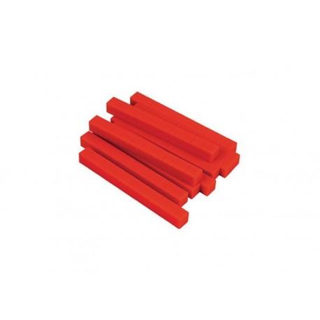 Matériel numération base 10 : 10 dizaines rouges