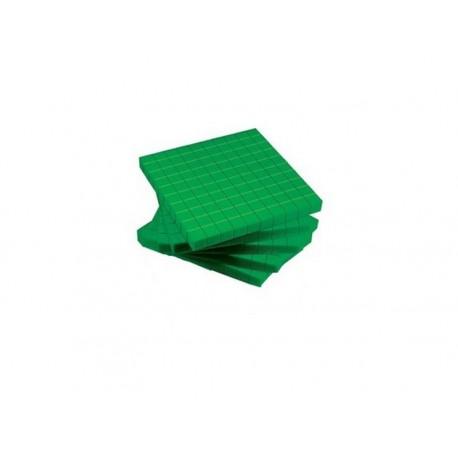Matériel numération base 10 : 5 centaines vertes