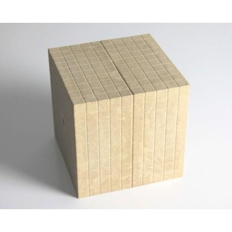 Matériel de numération base 10 en bois recyclé : 1 millier