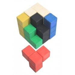 Cube Soma en bois recyclé