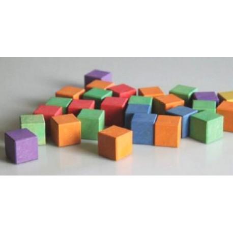 Cubes colorés en bois 2 cm x 2 cm