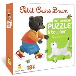 Petit Ours Brun : Puzzles à toucher Les animaux