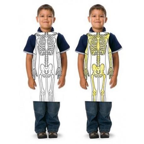 Tablier Squelette à colorier