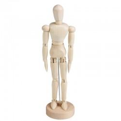 Mannequin articulé en bois