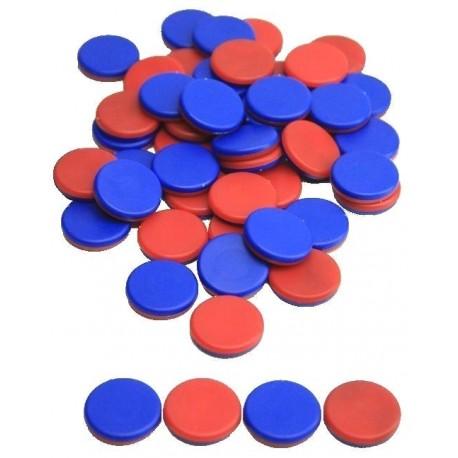 50 Jetons bicolore en plastique recyclé
