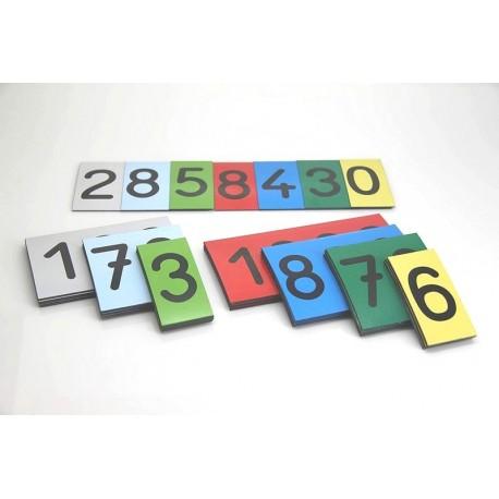 Cartes Nombres en carton