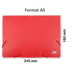 Pochette à élastiques 3 rabats format A5