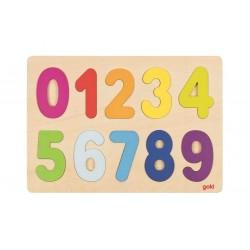 Puzzle à encastrer chiffres en bois