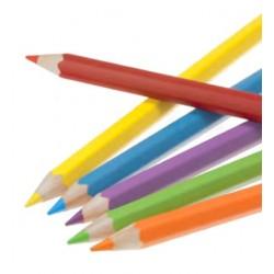 Crayons de couleur aquarellables