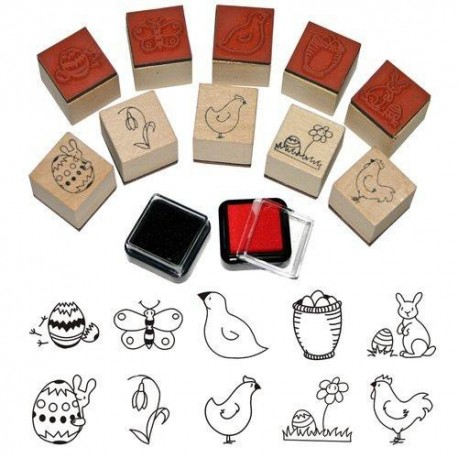 10 Mini Tampons Pâques