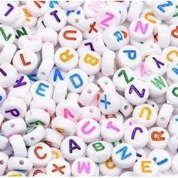 100 Perles lettres multicolores