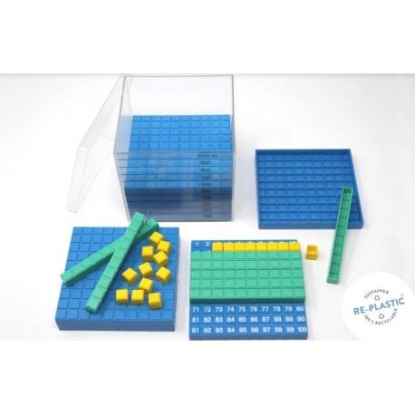 Cube à compter en plastique recyclé