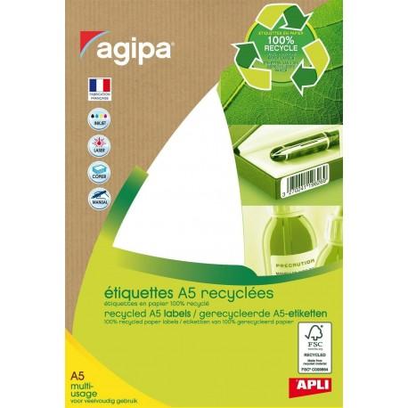 Etiquettes papier 100% recyclé 3.8 cm x 1.9 cm