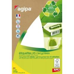 Etiquettes papier 100 % recyclé 5.6 cm x 3.4 cm