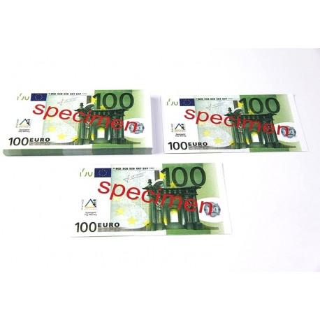 100 billets de 100 euros