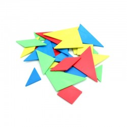 Lot de 4 Tangrams colorés