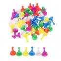 30 pions multicolores