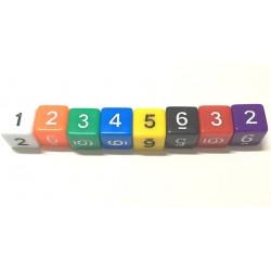 Dé 6 faces avec chiffres