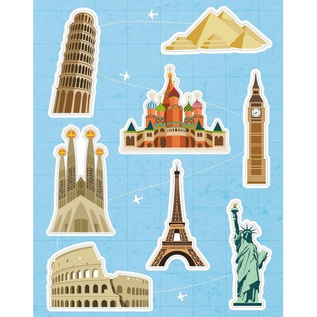 Stickers Monuments du Monde