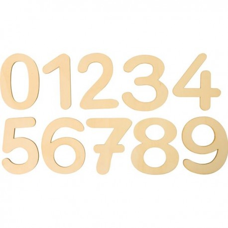 10 Grands chiffres en bois