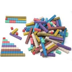 Bâtonnets Cuisenaire Montessori en bois recyclé